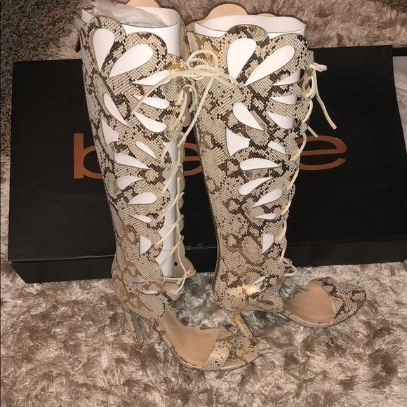 514383b9bcfa7 bebe Shoes - BEBE High Shaft Lace Up Sandal